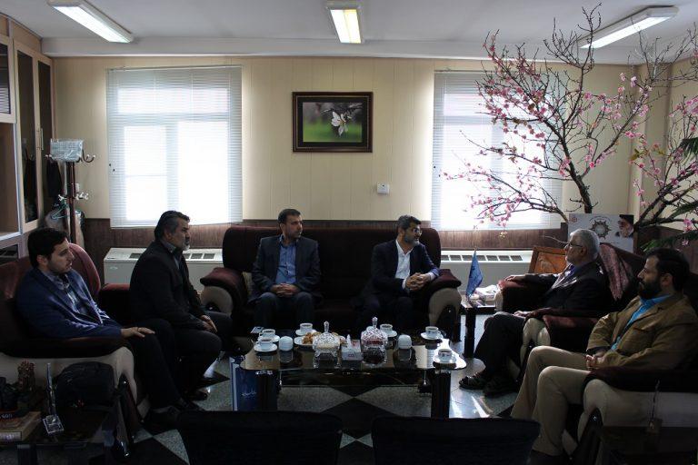 نشست مشترک رئیس پارک علم و فناوری قزوین با مدیرکل صدا وسیمای مرکز استان